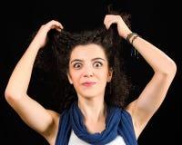 Смешная молодая женщина Стоковое фото RF