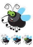 Смешная муха шаржа иллюстрация вектора