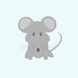 Смешная мышь шаржа Стоковые Изображения