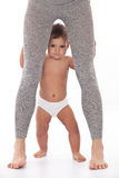 Смешная младенца взгляда нога мумии вне. Стоковое Изображение RF