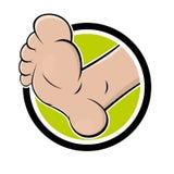 Смешная нога шаржа Стоковые Изображения