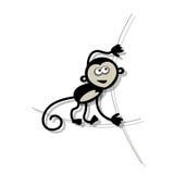 Смешная обезьяна для вашего дизайна Стоковое Изображение RF