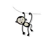 Смешная обезьяна для вашего дизайна Стоковое Фото