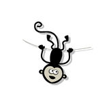 Смешная обезьяна для вашего дизайна Стоковое фото RF