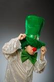 Смешная персона в концепции праздника St. Patrick Стоковые Фотографии RF