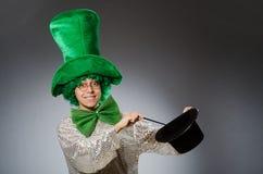 Смешная персона в концепции праздника St. Patrick Стоковая Фотография RF
