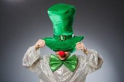 Смешная персона в концепции праздника St. Patrick Стоковое Изображение RF