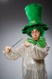 Смешная персона в концепции праздника St. Patrick Стоковые Фото