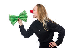Смешная персона в концепции праздника St. Patrick Стоковые Изображения RF