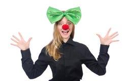 Смешная персона в концепции праздника St. Patrick Стоковая Фотография