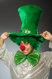 Смешная персона в концепции праздника St. Patrick Стоковое Фото