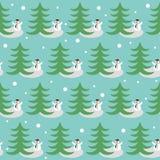 Смешная предпосылка зимнего отдыха с снеговиком Стоковая Фотография