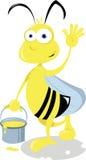 Смешная пчела иллюстрация штока