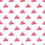 Смешная розовая cream безшовная картина Стоковая Фотография RF