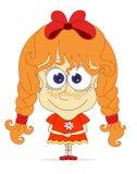 Смешная рыжеволосая девушка Стоковая Фотография RF