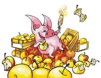 Смешная свинья Стоковые Изображения
