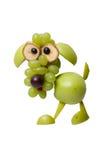 Смешная собака сделанная из зеленых плодоовощей Стоковые Фото