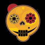 Смешная сторона черепа. Стоковые Изображения
