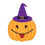 Смешная тыква хеллоуина шаржа с улыбкой Стоковое фото RF