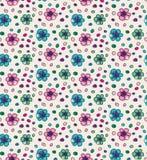 Смешная цветастая безшовная картина с цветками Стоковая Фотография RF