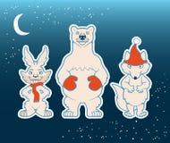 Смешное белое ледовитое собрание животных Стоковое Фото