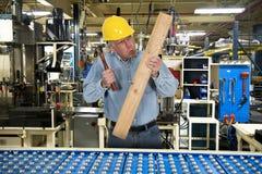 Смешное заводской рабочий, безопасность работы Стоковые Фотографии RF