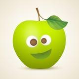 Смешное зеленое яблоко Стоковая Фотография