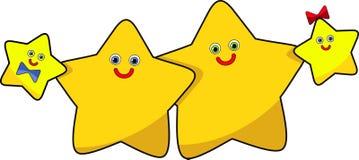 Смешное изображение семья звезд бесплатная иллюстрация