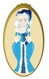 Смешное Мари Antoinette иллюстрация вектора