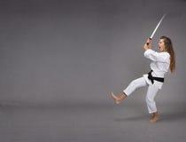Смешное нападение ninja стоковые изображения rf