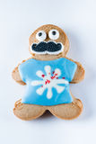 Смешное печенье пряника на белой предпосылке Стоковая Фотография