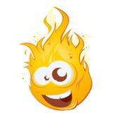 Смешное пламя шаржа Стоковое Фото