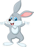 Смешное положение кролика шаржа Стоковое Изображение