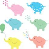 Смешное собрание шаржа слона Стоковая Фотография