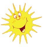 смешное солнце иллюстрация вектора