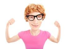Смешное nerdy athletee стоковое изображение rf