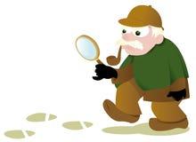 Смешное Sherlock Holmes иллюстрация вектора