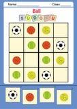 Смешное sudoku изображения для детей иллюстрация вектора