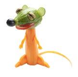 Смешное suricate сделанное из моркови и огурца Стоковое Изображение RF