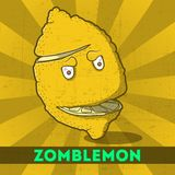 Смешное zomblemon шаржа Стоковая Фотография