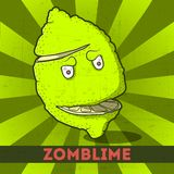Смешное zomblime шаржа Стоковое фото RF