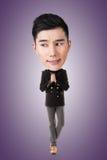 Смешной азиатский большой головной человек стоковые фото