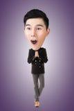 Смешной азиатский большой головной человек стоковое фото