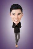 Смешной азиатский большой головной человек стоковая фотография rf