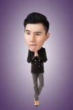 Смешной азиатский большой головной человек стоковое фото rf
