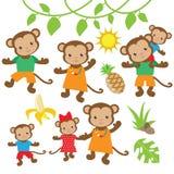 Смешной вектор обезьяны Стоковое Изображение