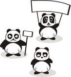 Смешной вектор панды шаржа Стоковое фото RF