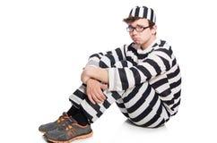 Смешной воспитанник тюрьмы стоковое фото