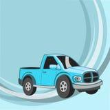 Смешной голубой автомобиль Стоковое фото RF