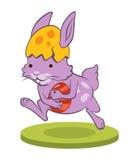Смешной зайчик пасхи с яичком Стоковое Изображение